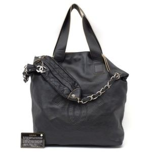 Chanel Extra Large Motocross Jumbo 2way CC Tote